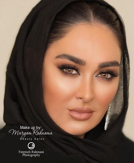 چهره جذاب الهام حمیدی با لنزهای رنگی !  