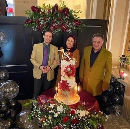 جشن تولد کتایون ریاحی در ۵۹ سالگی در کنار پسرش