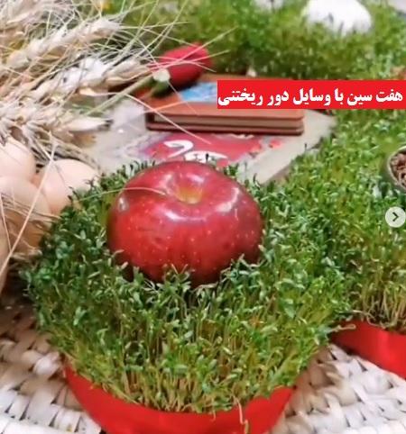 ایده سبزه عید ۱۴۰۰ + هفت سین با وسایل دور ریختنی