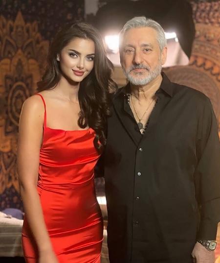 عکس جدید ابی در کنار مهلقا جابری مدل معروف
