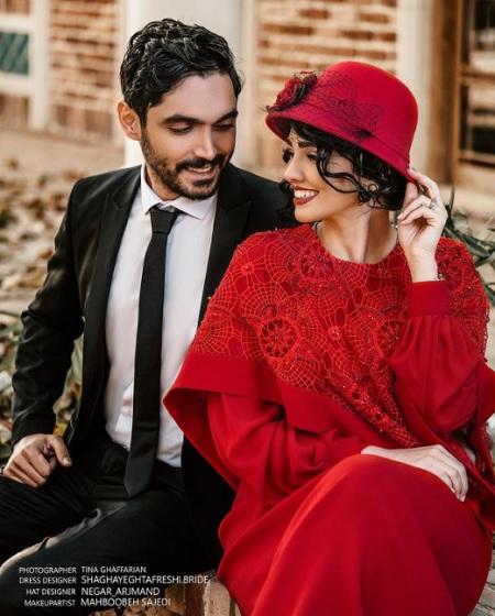 عکس عاشقانه سیما خضر آبادی و همسرش برای سالگرد ازدواجشان